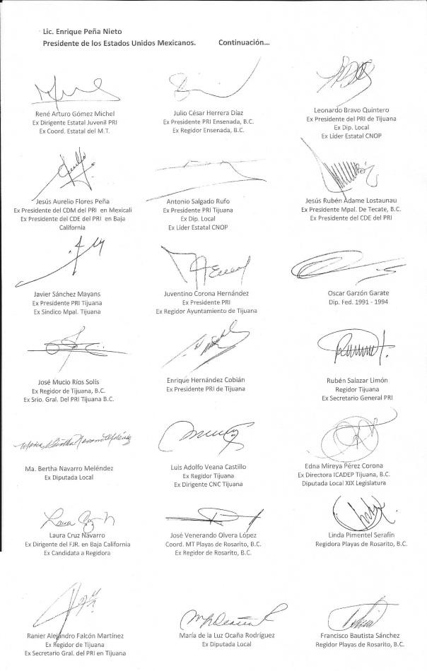 carta a EPN PRI 2