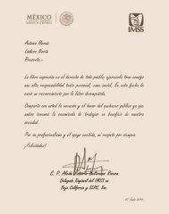felicitaciones IMSS