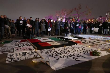 manifestación Ayotzinapa Holanda