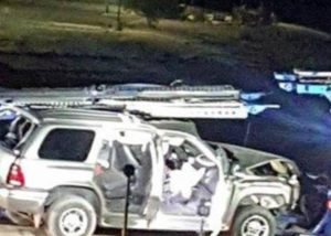 Camioneta choque migrantes